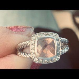 David Yurman Petite Albion Morganite Ring
